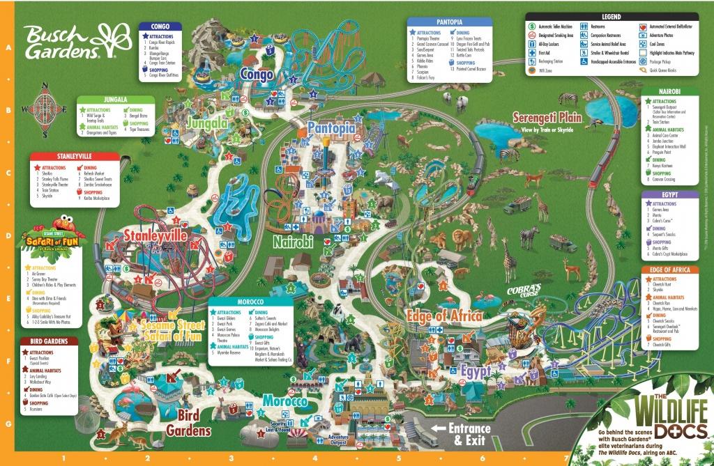 Tampa Busch Gardens Park Map - Bush Garden Florida Map