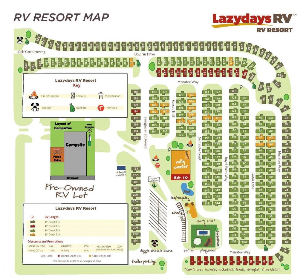 Tampa Rv Resort Map | Lazydays Rv In Tampa, Florida - Rv Dealers In Florida Map