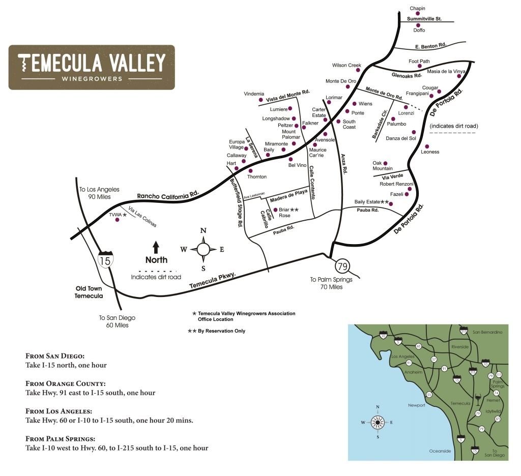 Temecula Valley Winegrowers Association - Winery Map | Temecula - Temecula Winery Map Printable