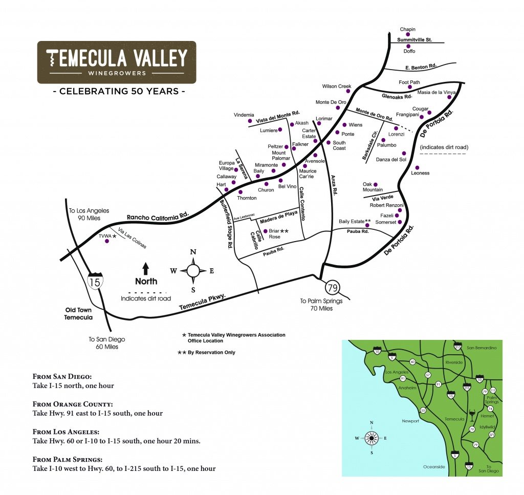 Temecula Valley Winegrowers Association - Winery Map - Temecula Winery Map Printable