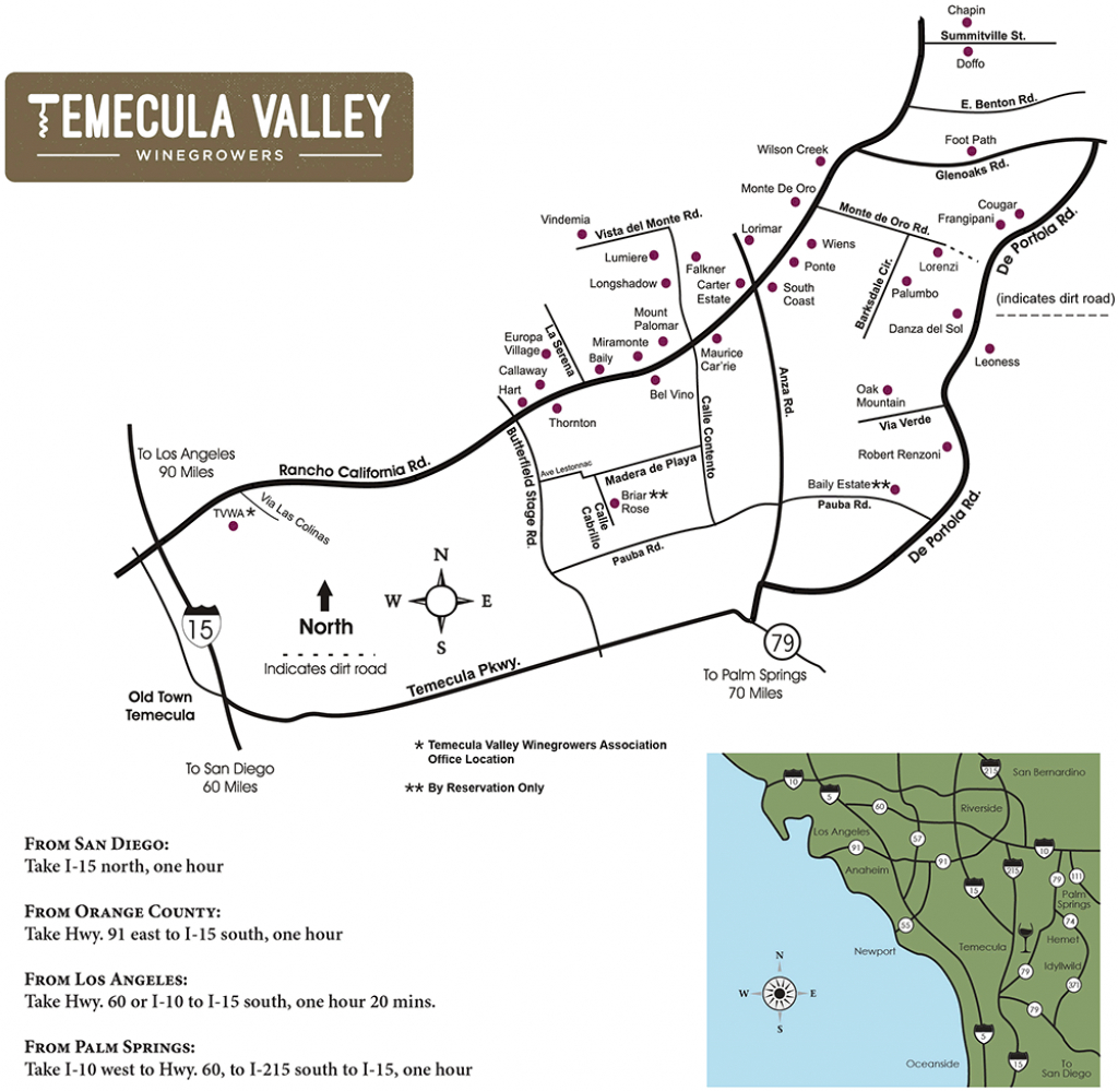 Temecula Valley Winegrowers Association - Winery Map | Wineries - Temecula Winery Map Printable