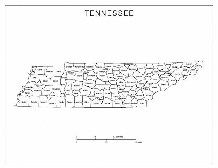 Printable Map Of Tennessee Counties