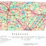 Tennessee Printable Map   Printable Map Of Tennessee With Cities