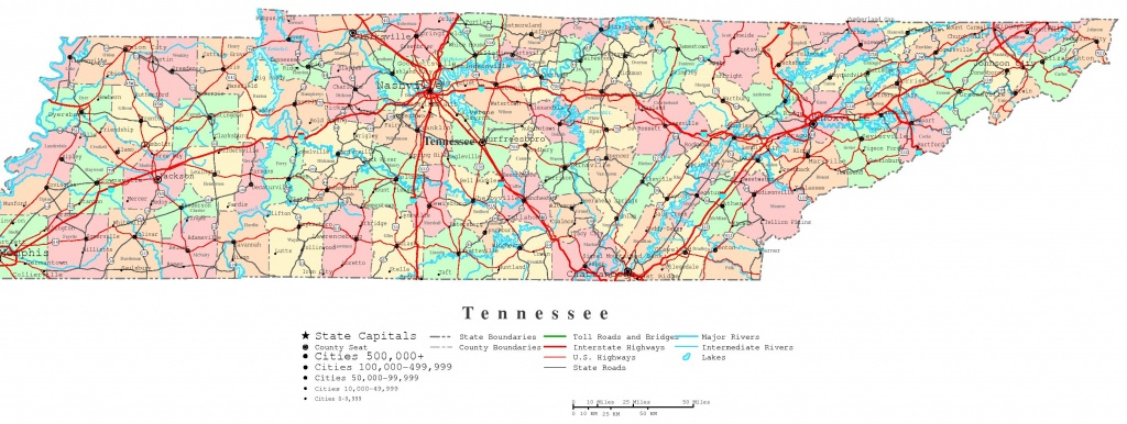 Tennessee Printable Map - Printable State Maps With Counties