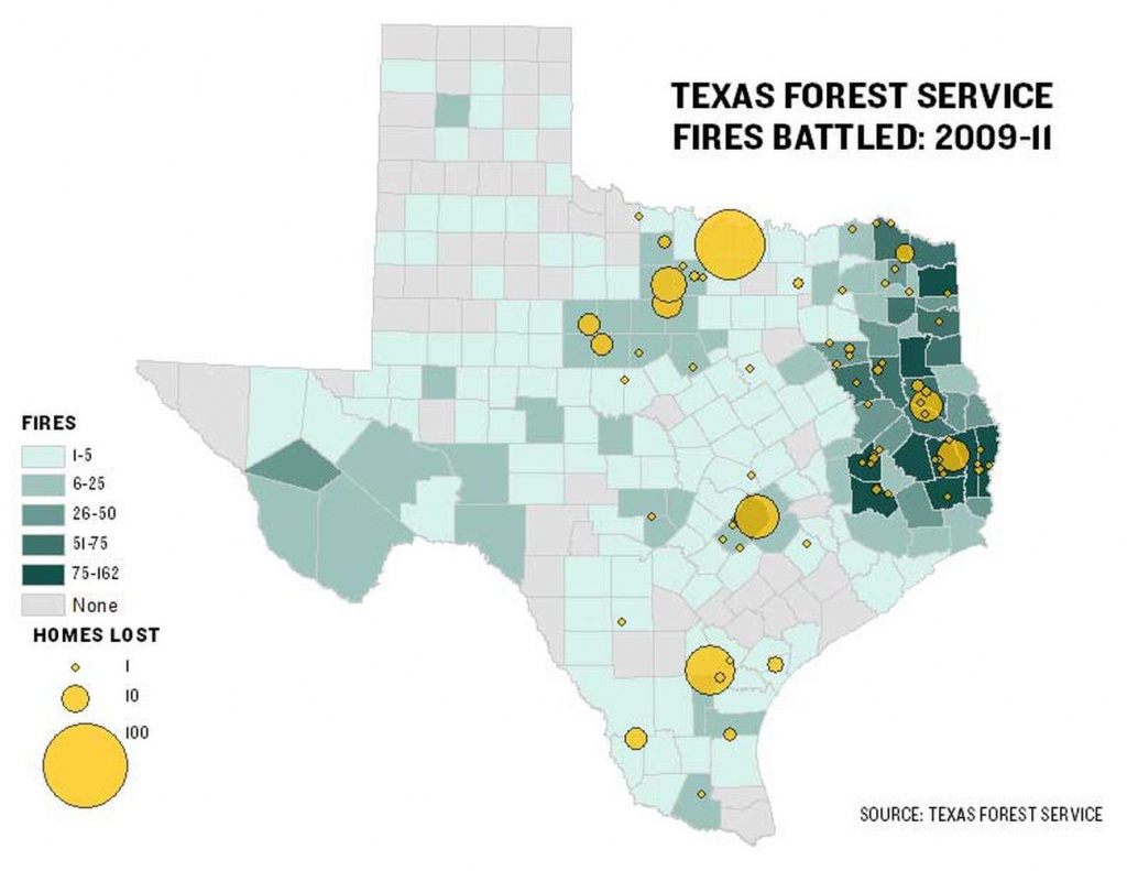 Texas Agency Battled 2,600 Fires Since 2009 | The Texas Tribune - West Texas Fires Map
