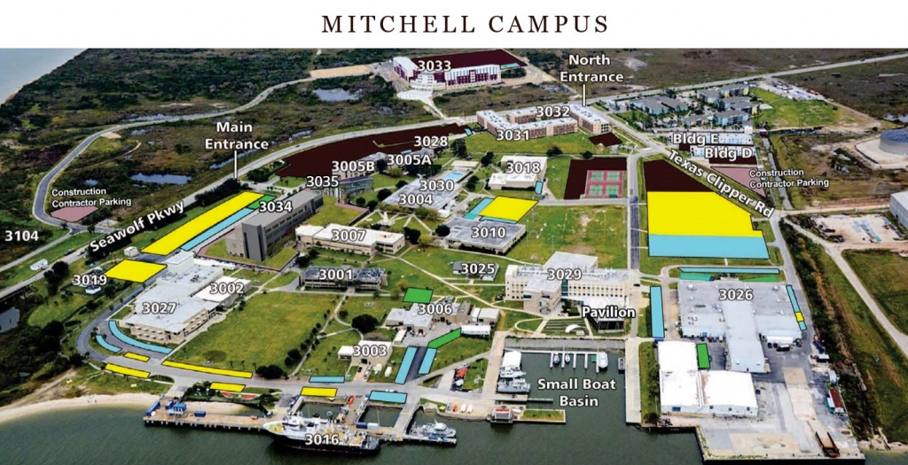 Texas A&m University Galveston Campus Maps And Directions - Texas - Texas A&m Map