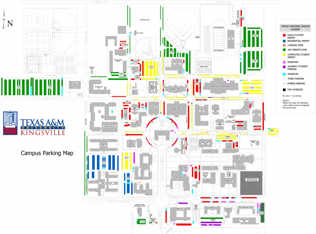 Texas A&m University Kingsville - Texas A&m Parking Map