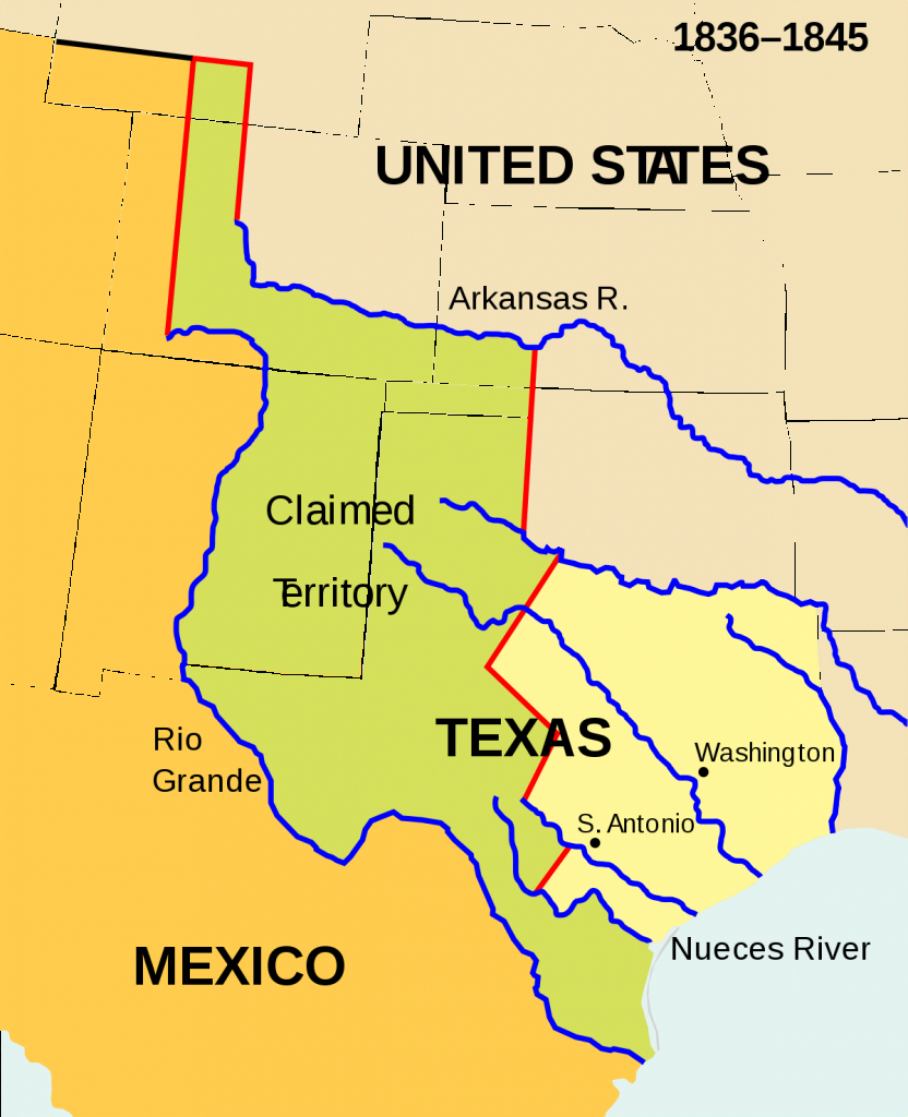 Texas Annexation - Wikipedia - Republic Of Texas Map 1845