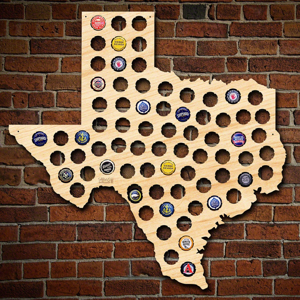 Texas Beer Cap Map - Texas Beer Cap Map