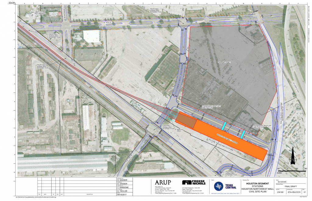 Texas Bullet Train Developers Pick Northwest Mall For Houston - High Speed Rail Texas Route Map