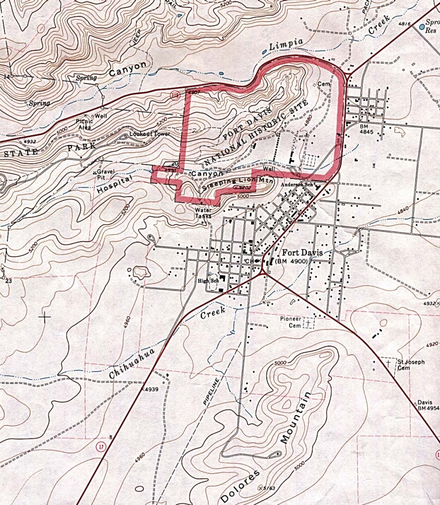 Texas City Maps - Perry-Castañeda Map Collection - Ut Library Online - Fort Davis Texas Map