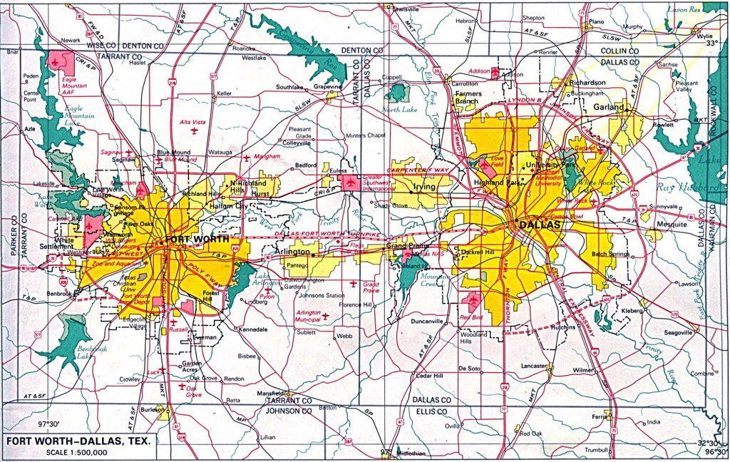 Texas City Maps - Perry-Castañeda Map Collection - Ut Library Online - Fort Worth Texas Map