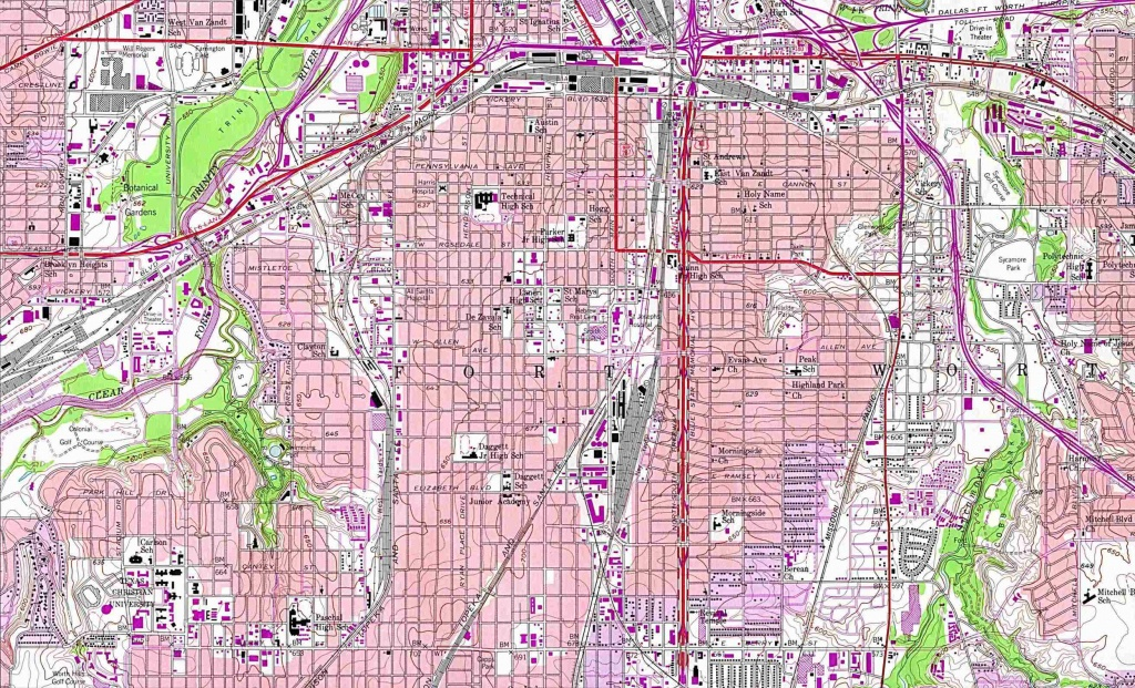 Texas City Maps - Perry-Castañeda Map Collection - Ut Library Online - Google Maps Fort Worth Texas