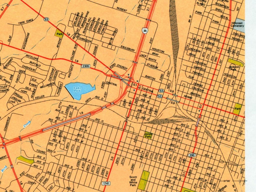 Texas City Maps - Perry-Castañeda Map Collection - Ut Library Online - Street Map Of San Angelo Texas