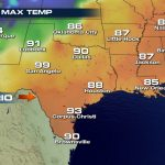 Texas City Reaches Hottest April Temperature   Weathernation   Texas Weather Map Temps