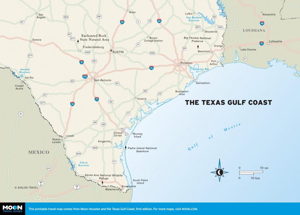 Texas Coastal Map And Travel Information | Download Free Texas - Map Coastal Texas