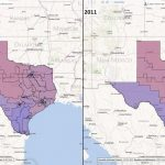 Texas Congressional Districts: Comparison 2001 2011   Texas Congressional District Map