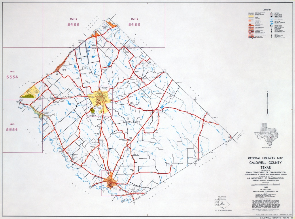 Texas County Highway Maps Browse - Perry-Castañeda Map Collection - Caldwell Texas Map