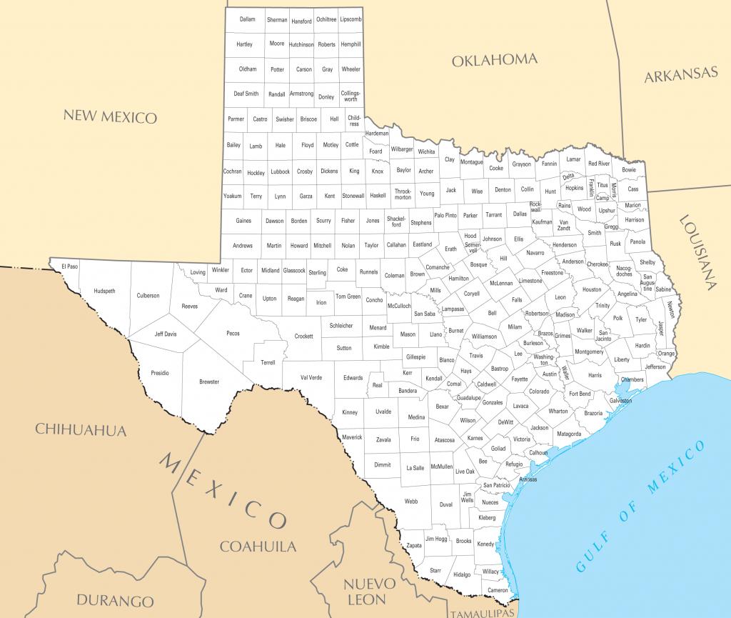 Texas County Map • Mapsof - Google Maps Texas Counties