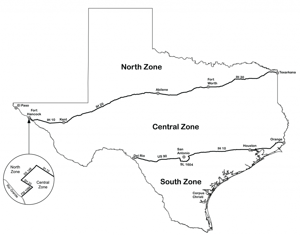 Texas Dove Hunters Association - Tpwd - Texas Hunting Zones Map