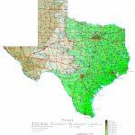 Texas Elevation Map   Texas Elevation Map By County