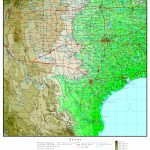 Texas Elevation Map   Texas Topo Map