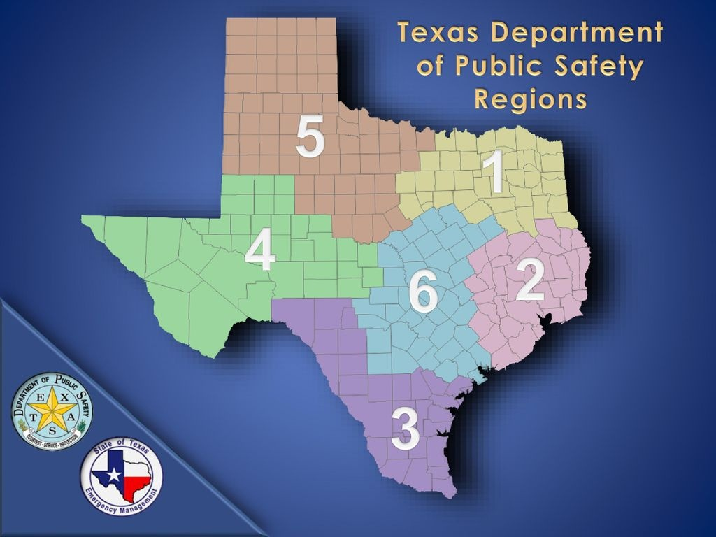 Texas Emergency Management: Regional Overview - Ppt Download - Texas Dps Region Map