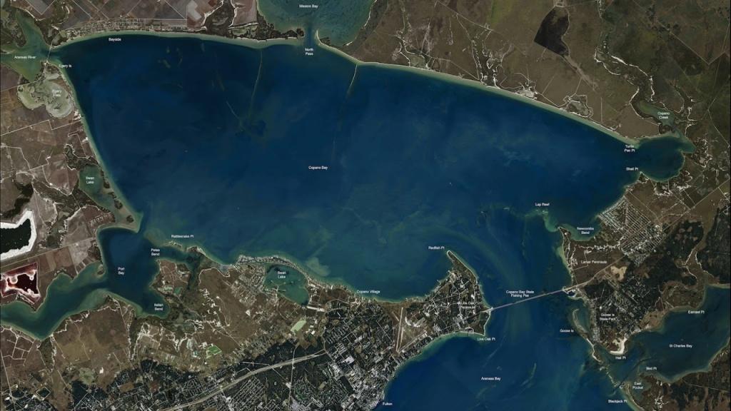 Texas Fishing Tips Kayak Fishing Report Sept. 21 2017 With Rockport - Rockport Texas Fishing Map
