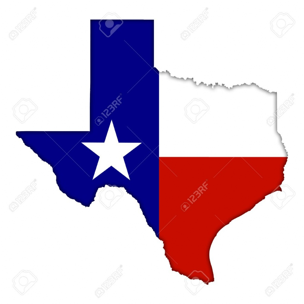 Texas Flag Map Icon Stock Photo, Picture And Royalty Free Image - Texas Flag Map