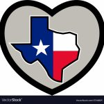 Texas Flag Map Inside Heart Icon Royalty Free Vector Image   Texas Flag Map