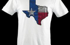 Texas Flag Shirt Map Art | Texas Typography Map T-Shirt – Texas Not Texas Map T Shirt