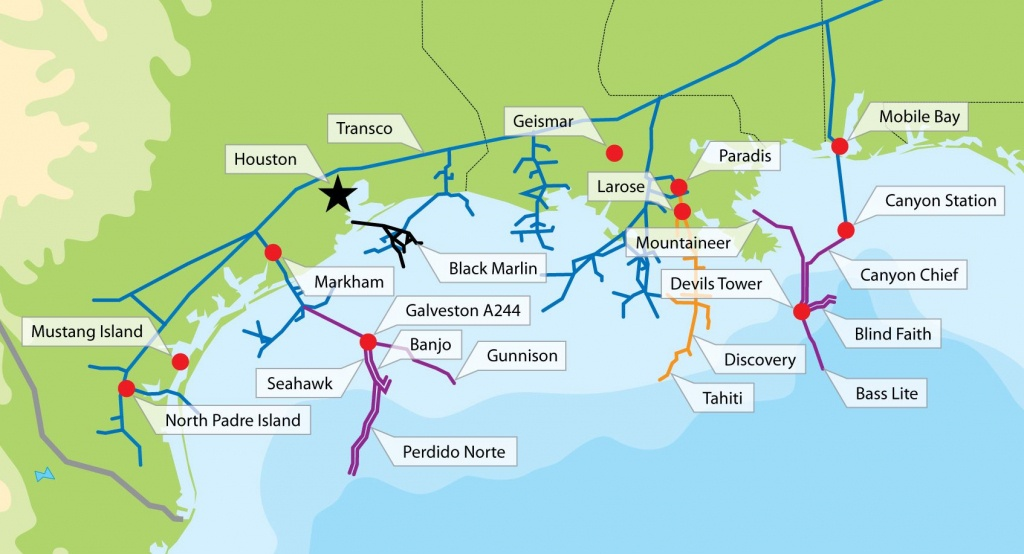 Texas Gulf Oil Rig Map | Gulf Of Mexico Oil Fields Map | $$-Texas - Texas Oil Rig Fishing Map