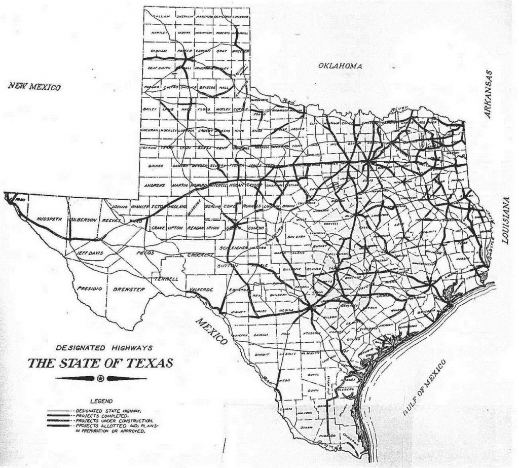 Texas Highway Department | Thc.texas.gov - Texas Historical Commission - Texas Highway Construction Map