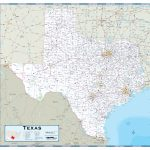 Texas Highway Wall Map   Texas Wall Map