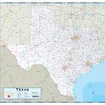 Texas Highway Wall Map   Texas Wall Map