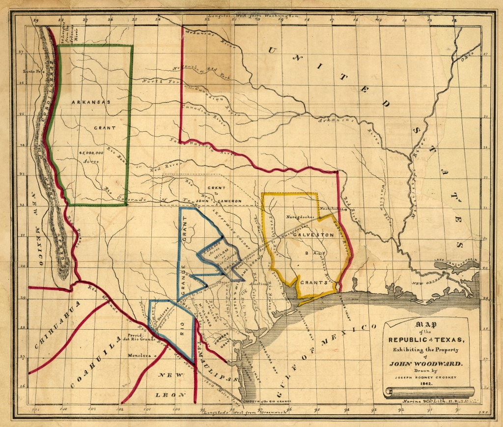 Texas Historical Maps - Perry-Castañeda Map Collection - Ut Library - Republic Of Texas Map 1845