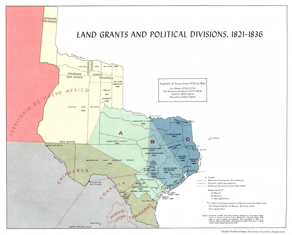 Texas Historical Maps - Perry-Castañeda Map Collection - Ut Library - Texas Land Grants Map