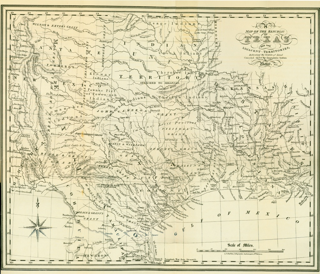 Texas Historical Maps - Perry-Castañeda Map Collection - Ut Library - Vintage Texas Map