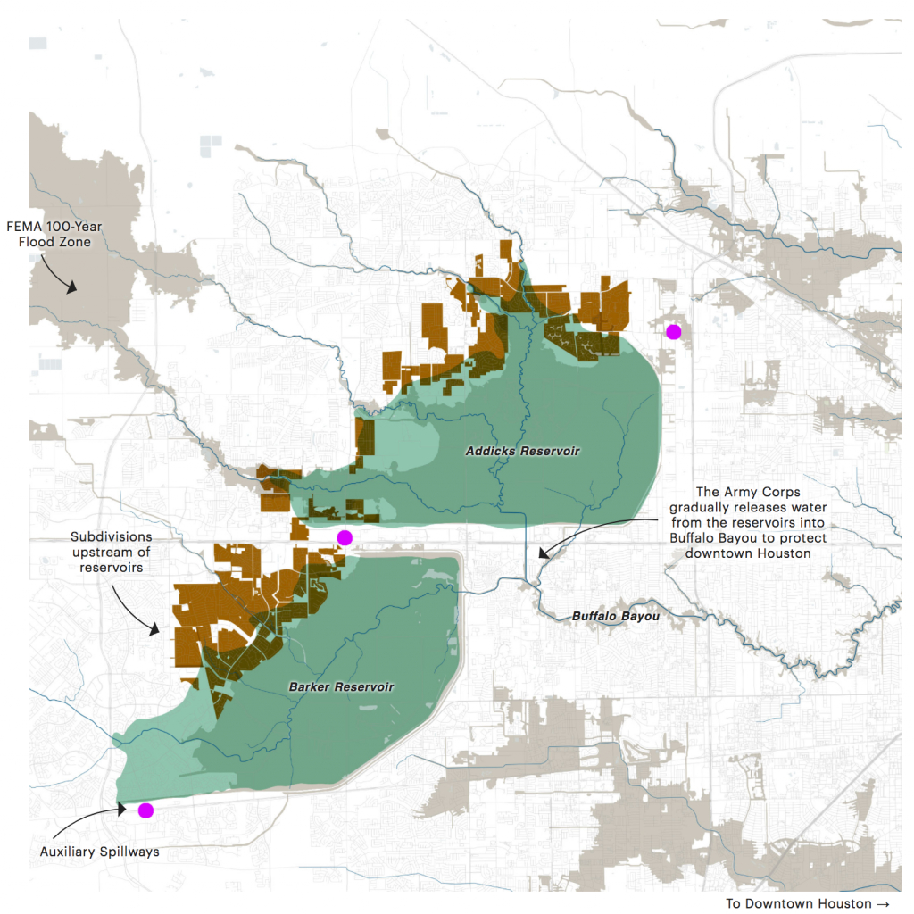 Texas Hurricane Harvey Flood Damage Lawyer | Addicks & Barker - Barker Texas Map