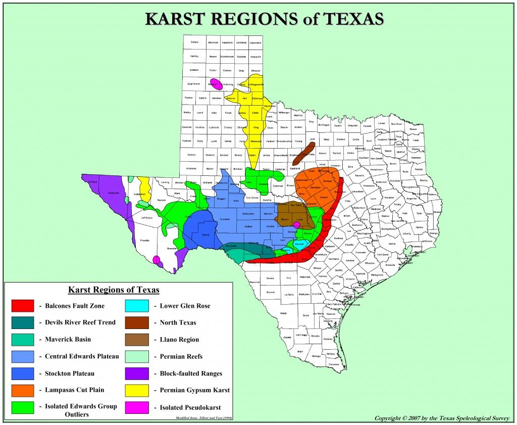 Texas Karst | Texas Speleological Survey | Tss | Cave | Records - Caves In Texas Map