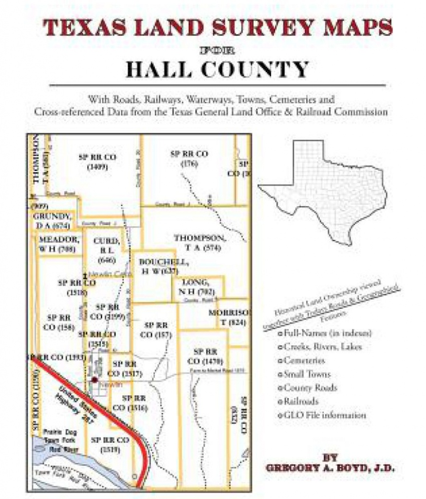 Texas Land Survey Maps For Hall County: Buy Texas Land Survey Maps - Texas Land Survey Maps Online