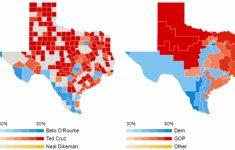 Map Beto For Texas