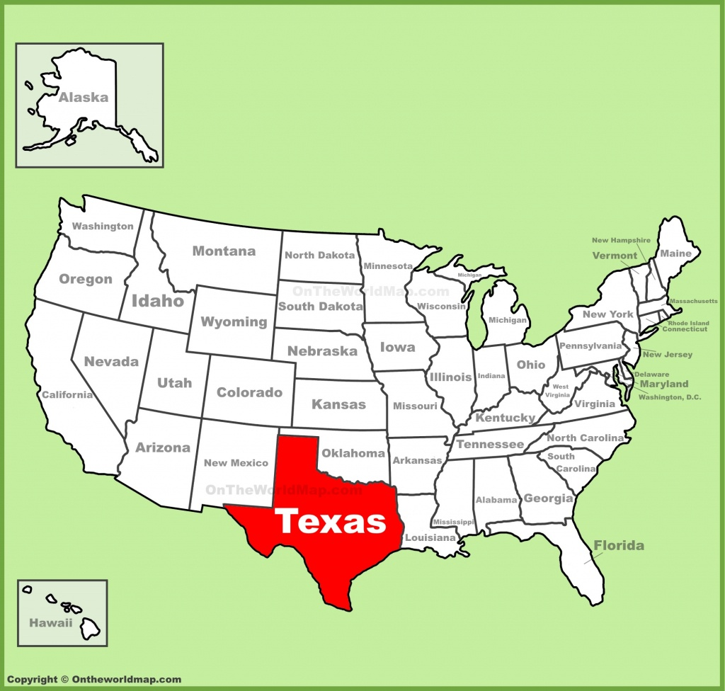 Texas Location On The U.s. Map - Full Map Of Texas