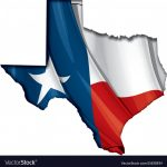 Texas Map Flag Royalty Free Vector Image   Vectorstock   Texas Flag Map