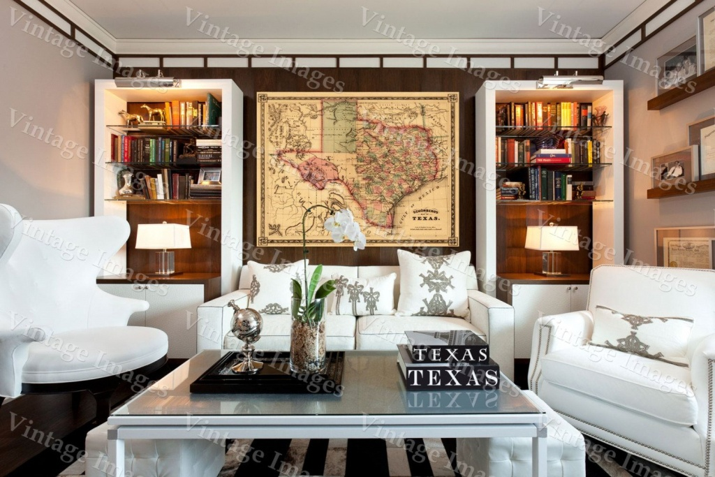 Texas Map Giant 1866 Old Texas Map Old West Map Antique Restoration - Giant Texas Wall Map