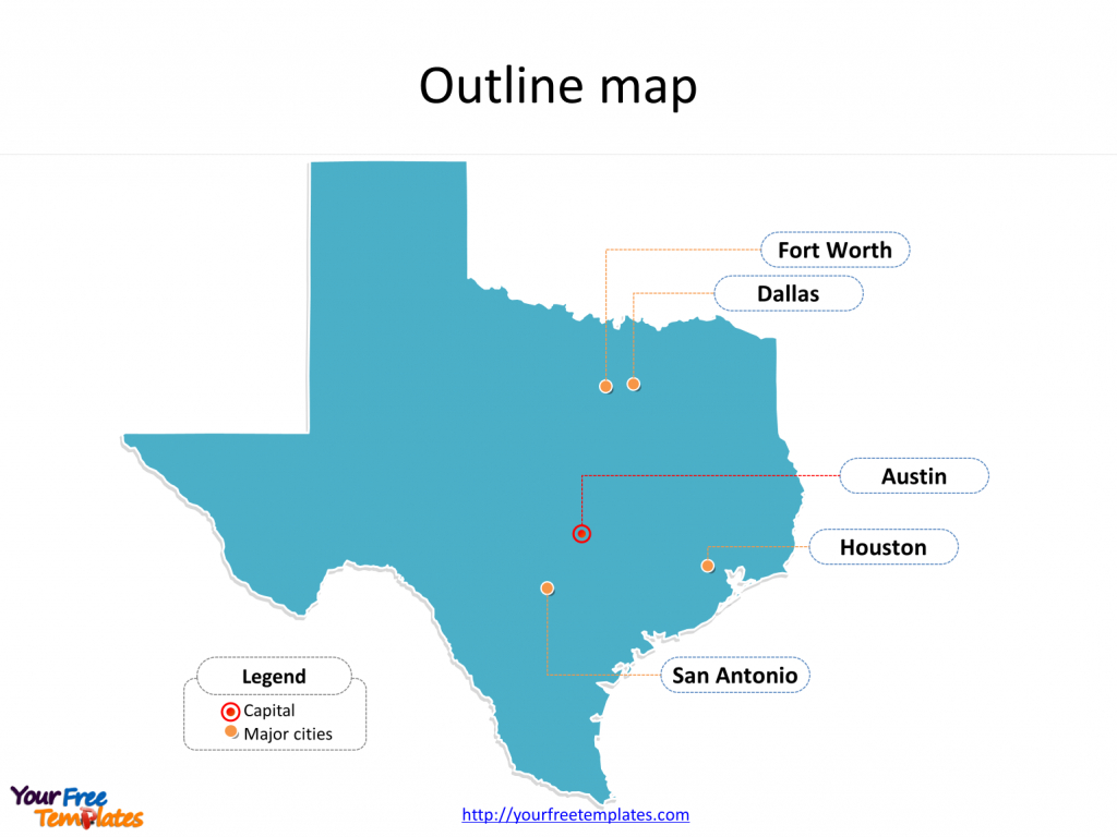 Texas Map Powerpoint Templates - Free Powerpoint Templates - Map Of Texas Major Cities