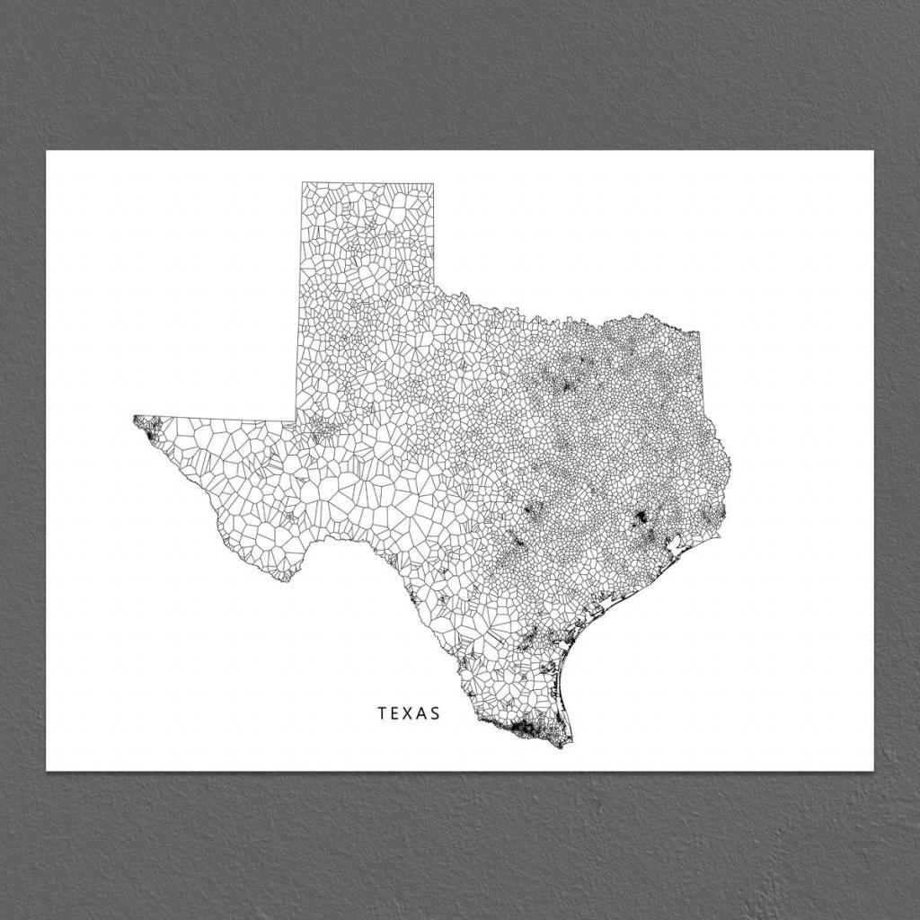 Texas Map Print Texas Wall Art Decor Tx State Geometric | Etsy - Texas Map Artwork