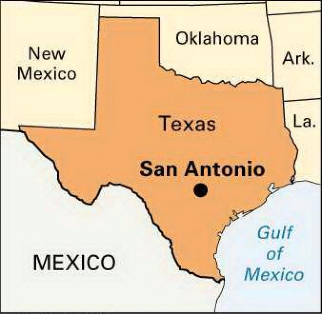 Texas Map San Antonio - San Antonio Map Of Texas (Texas - Usa) - Map Of San Antonio Texas Area