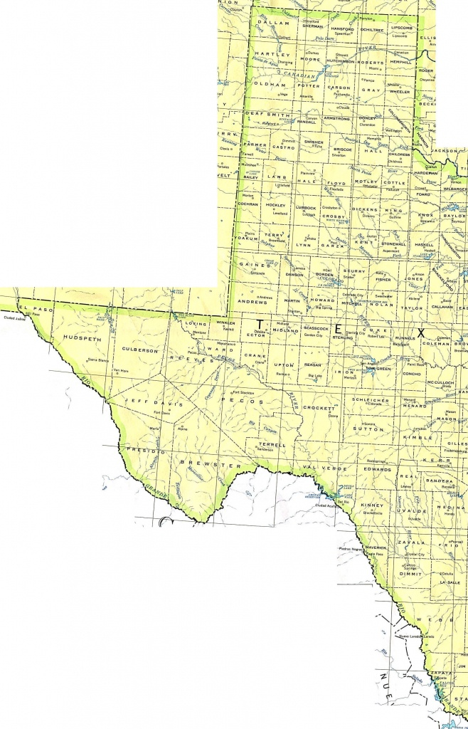 Printable Map Of Texas With Cities