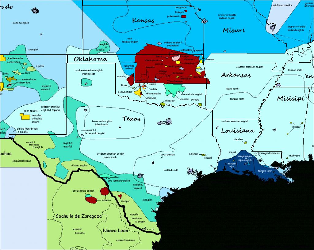 Texas, Oklahoma, Kansas, Missouri, Louisiana, Mississipi & Arkansas - Map Of Texas And Arkansas